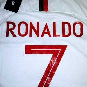 Ronaldo Portugal away white jersey